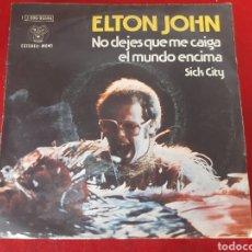 Discos de vinilo: LOTE DE 8 SINGLES ELTON JOHN EN LA FOTO SE PUEDE VER UNO A UNO LOS TÍTULOS DE LAS CANCIONES. Lote 171042178