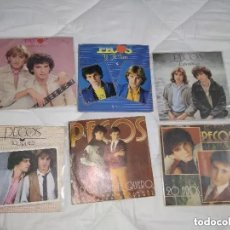 Discos de vinilo: PECOS / LOTE 5 SINGLE + 1 PORTADA / SINGLE 45 RPM. Lote 171050012