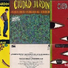 Discos de vinilo: CIUDAD JARDIN. LOTE DE 3 SINGLES. FONOMUSIC/HISPAVOX 1989/1990/1992.. Lote 171050335