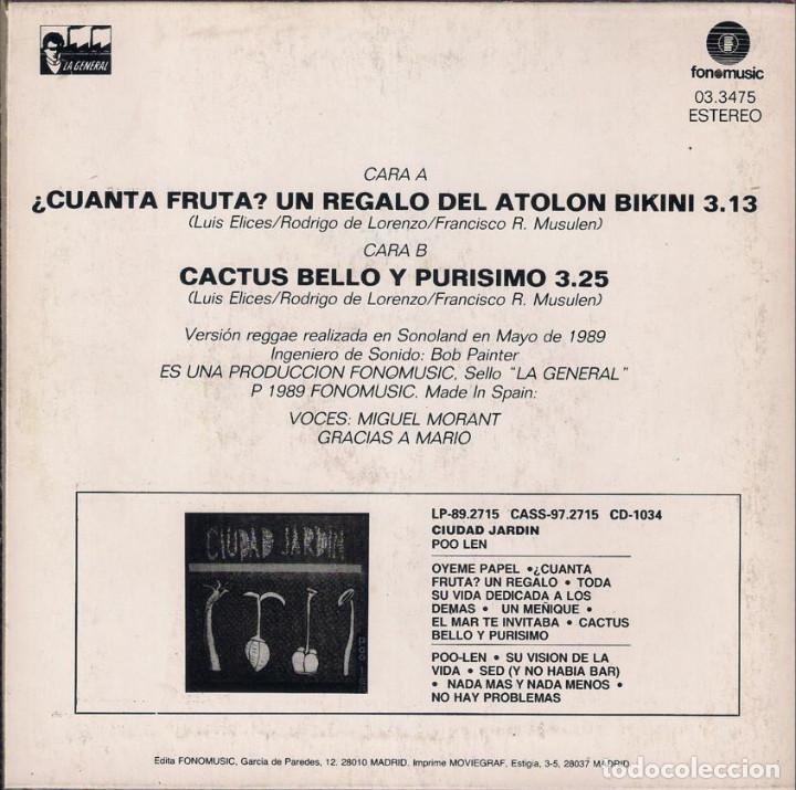 Discos de vinilo: Ciudad Jardin. Lote de 3 singles. Fonomusic/Hispavox 1989/1990/1992. - Foto 5 - 171050335