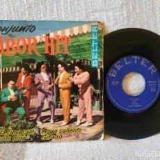 Discos de vinilo: CONJUNTO SABOR HIT - SEVILLA CUNA CALÉ + 3 - DISCO DE VINILO EP SELLO BELTER 50.703 AÑO 1963 . Lote 171054139