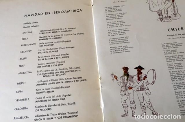 Discos de vinilo: NAVIDAD EN IBEROAMÉRICA - DISCO PUBLICITARIO DE IBERIA - MENSAJE A BELÉN DE UN PILOTO ESPAÑOL1966 - Foto 2 - 171061967