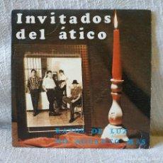 Discos de vinilo: INVITADOS DEL ATICO - RAYOS DE LUZ / NO AGUANTO MAS - SINGLE DEL AÑO 1986 EN EXCELENTE ESTADO. Lote 171089013