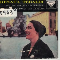 Discos de vinilo: RENATA TEBALDI - (CILEA-VERDI) (VER FOTO ADJUNTA) (SPAIN, DECCA 1959). Lote 171093880