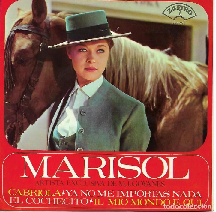 Discos de vinilo: MARISOL - CABRIOLA - YA NO ME IMPORTAS NADA - EL COCHECITO - MIO MUNDO E QUI - Foto 2 - 171095572