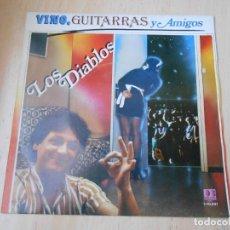 Disques de vinyle: DIABLOS, LOS, SG, VINO, GUITARRAS Y AMIGOS + 1, AÑO 1983. Lote 171099379