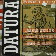 Discos de vinilo: MX . DOBLE - DATURA REMIXES - YERBA DEL DIABLO. Lote 171104672