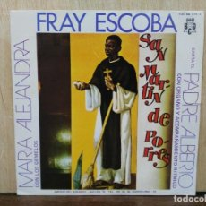 Discos de vinilo: MARÍA ALEJANDRA CON LOS GEMELOS - FRAY ESCOBA - SINGLE DEL SELLO BCD 1972. Lote 171106370