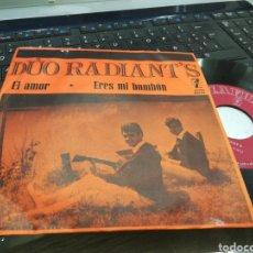 Discos de vinilo: DUO RADIANT'S SINGLE EL AMOR 1964. Lote 171109134