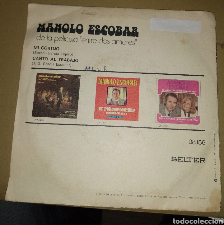 Discos de vinilo: Manolo Escobar - Mi cortijo - Foto 3 - 202482838