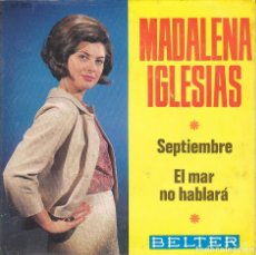 Discos de vinilo: SINGLE MADALENA IGLESIAS SEPTIEMBRE DISCO BELTER . Lote 171115628