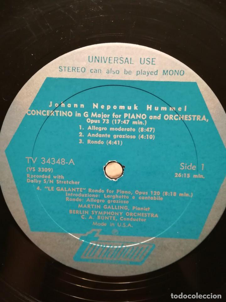 Discos de vinilo: Hummel (1778-1837). 2 conciertos y La galante para piano - Foto 2 - 171132274