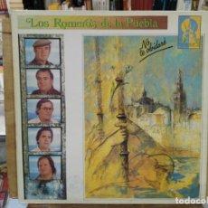Discos de vinilo: LOS ROMEROS DE LA PUEBLA - NO TE OLVIDARÉ, SEVILLANAS `90 - LP. DEL SELLO 1990. Lote 171132790