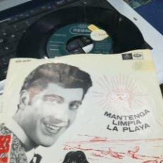 Discos de vinilo: ANDRES PAJARES SINGLE MANTENGA LIMPIA LA PLAYA 1966. Lote 171141585