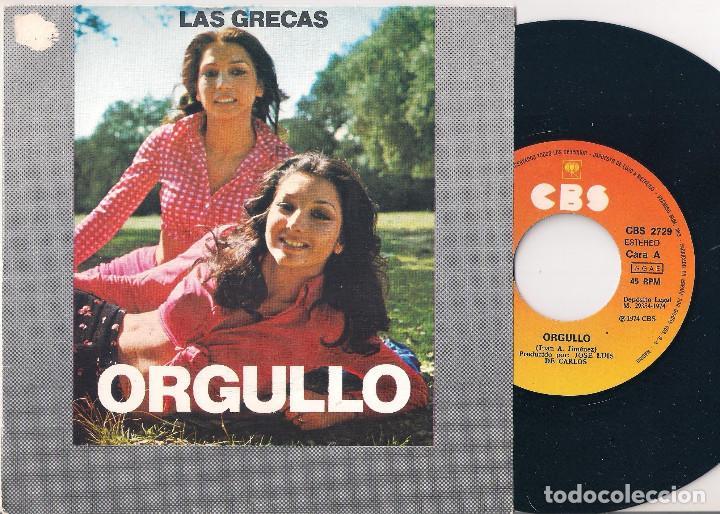 Discos de vinilo: Las Grecas. Lote de 4 singles. CBS 1974, 1975 y 1977 - Foto 2 - 171150870