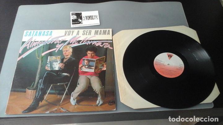 ALMODÓVAR & MCNAMARA ?– SATANAS.A. / VOY A SER MAMÁ MAXI VICTORIA ?– VIC-75, EDIGSA ?– 22M0607 (Música - Discos de Vinilo - Maxi Singles - Grupos Españoles de los 70 y 80)