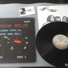 Discos de vinilo: BARON ROJO - LARGA VIDA AL ROCK AND ROLL LP CHAPA DISCOS HS-35044. Lote 171157799