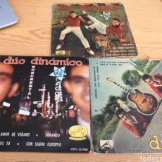 Discos de vinilo: 3 SINGLES DUO DINAMICO. Lote 171163852