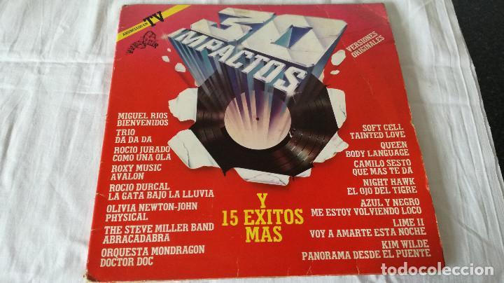 3-2 LP- 30 IMPACTOS, 1982 (Música - Discos de Vinilo - EPs - Pop - Rock - New Wave Extranjero de los 80)