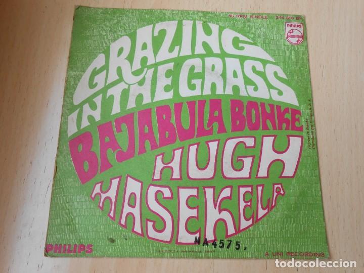 Discos de vinilo: HUGH MASEKELA, SG, GRAZING IN THE GRASS + 1, AÑO 1968 - Foto 2 - 171174122