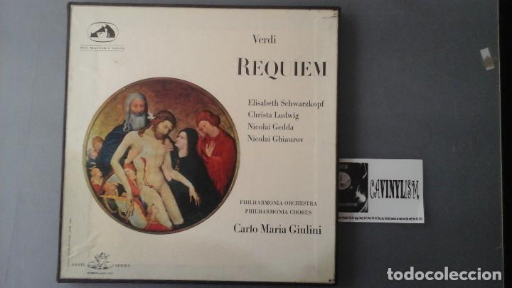 VERDI REQUIEM-LUDWIG-SCHWARZKOPF-GIULINI CAJA 2 LP 1967 EDICIÓN UK (Música - Discos de Vinilo - EPs - Clásica, Ópera, Zarzuela y Marchas)