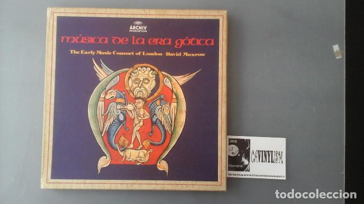 THE EARLY MUSIC CONSORT OF LONDON / DAVID MUNROW ?– LA MÚSICA DE LA ERA GÓTICA CAJA (Música - Discos de Vinilo - EPs - Clásica, Ópera, Zarzuela y Marchas)