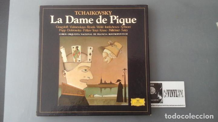 LA DAME DE PIQUE - TCHAIKOVSKY - ROSTROPOVITCH - CAJA DEUTSCHE GRAMMOPHON (Música - Discos de Vinilo - EPs - Clásica, Ópera, Zarzuela y Marchas)