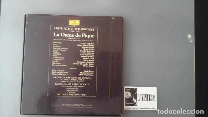 Discos de vinilo: La dame de Pique - Tchaikovsky - Rostropovitch - Caja Deutsche Grammophon - Foto 2 - 171175274