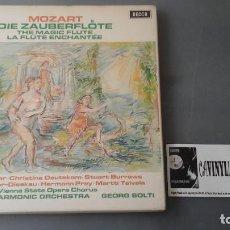 Discos de vinilo: MOZART - SOLTI - LA FLAUTA MÁGICA CAJA DE TRES LPS DECCA ?– SET 479-81. Lote 171177045