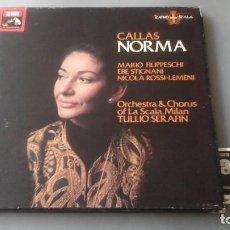 Discos de vinilo: MARIA CALLAS , TULLIO SERAFIN - NORMA - CAJA HIS MASTER'S VOICE ?– SLS 5115 EDICIÓN UK. Lote 171180835