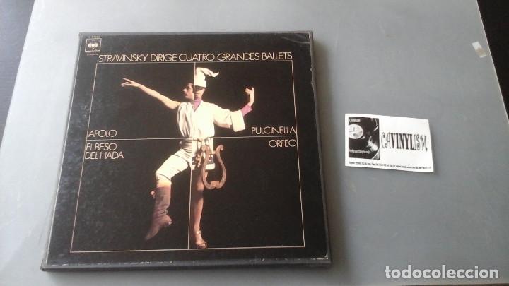 STRAVINSKY DIRIGE 4 GRANDES BALLETS (APOLLO; ORPHEUS; PULCINELLA; EL BESO DEL HADA) CAJA COLUMBIA (Música - Discos de Vinilo - EPs - Clásica, Ópera, Zarzuela y Marchas)