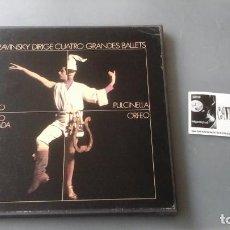 Discos de vinilo: STRAVINSKY DIRIGE 4 GRANDES BALLETS (APOLLO; ORPHEUS; PULCINELLA; EL BESO DEL HADA) CAJA COLUMBIA . Lote 171180913