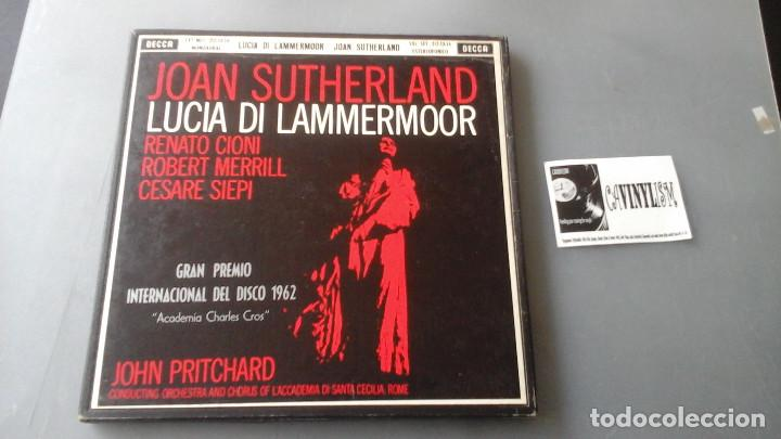 JOAN SUTHERLAND - JOHN PRITCHARD - LUCIA DI LAMMERMOOR CAJA DECCA ?– MET 212-13-14 (Música - Discos de Vinilo - EPs - Clásica, Ópera, Zarzuela y Marchas)