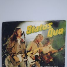 Discos de vinilo: SINGLE STATUS QUO,WHAT YOU,RE PROPOSING ,( QUÉ ME PROPONES). Lote 171183783