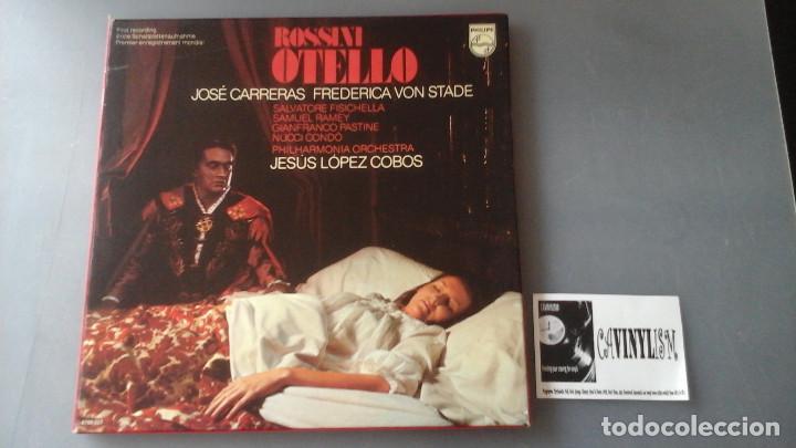 ROSSINI - JOSE CARRERAS, FREDERICA VON STADE - OTELLO CAJA 3 LPS PHILIPS (Música - Discos de Vinilo - EPs - Clásica, Ópera, Zarzuela y Marchas)