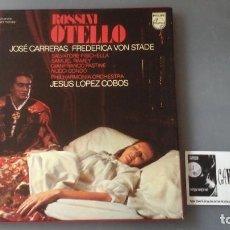 Discos de vinilo: ROSSINI - JOSE CARRERAS, FREDERICA VON STADE - OTELLO CAJA 3 LPS PHILIPS. Lote 171184835