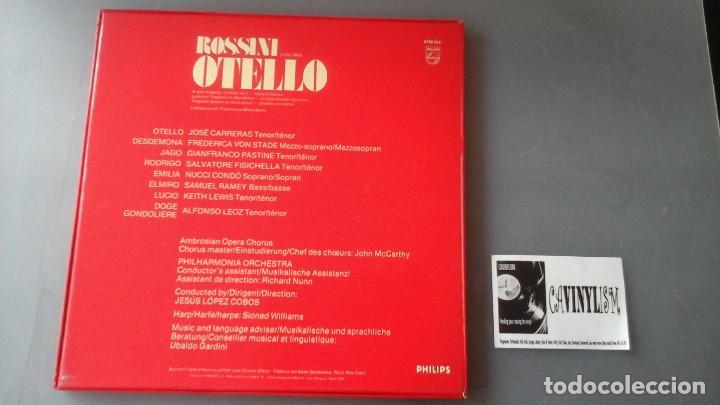 Discos de vinilo: Rossini - Jose Carreras, Frederica Von Stade - Otello Caja 3 Lps Philips - Foto 2 - 171184835