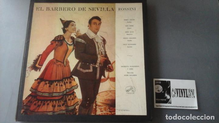 ROSSINI , MARIA CALLAS - EL BARBERO DE SEVILLA CAJA 3 LPS LA VOZ DE SU AMO 10C 165-000467/69 (Música - Discos de Vinilo - EPs - Clásica, Ópera, Zarzuela y Marchas)