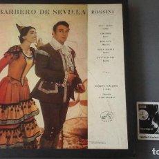 Discos de vinilo: ROSSINI , MARIA CALLAS - EL BARBERO DE SEVILLA CAJA 3 LPS LA VOZ DE SU AMO 10C 165-000467/69. Lote 171184904