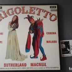 Discos de vinilo: VERDI - SUTHERLAND , MACNEIL - RIGOLETTO CAJA 3 LPS DECCA ?– SET224-6. Lote 171184965