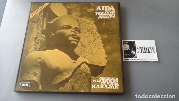 VERDI, KARAJAN - AIDA - CAJA 3 LPS DECCA ?– SXL 2167/9 (Música - Discos de Vinilo - EPs - Clásica, Ópera, Zarzuela y Marchas)