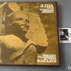 Discos de vinilo: VERDI, KARAJAN - AIDA - CAJA 3 LPS DECCA ?– SXL 2167/9. Lote 171185013