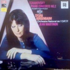 Discos de vinilo: TCHAIKOVSKY. CONCIERTO PARA PIANO N2 (VERSIÓN ORIGINAL COMPLETA) KERSENBAUM.MARTINON. EMI. (1LP). Lote 171185145