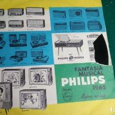 Discos de vinilo: SINGLE FANTASÍA MUSICAL PHILIPS 1965, MEJORES NO HAY. Lote 171185909