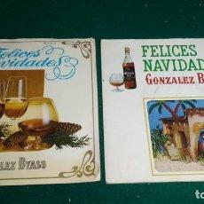 Discos de vinilo: 2 DISCO SINGLE - DISCO PUBLICITARIO GONZALEZ BYASS FELICES NAVIDADES. Lote 171186003