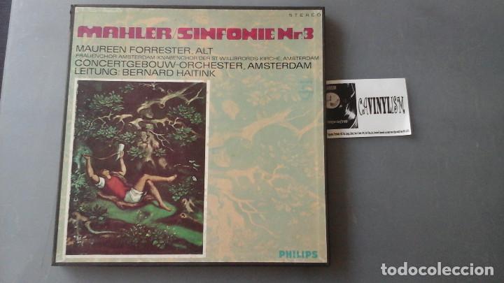 GUSTAV MAHLER ?– SYMPHONY NO.3 CAJA PHILIPS 2LPS (Música - Discos de Vinilo - EPs - Clásica, Ópera, Zarzuela y Marchas)