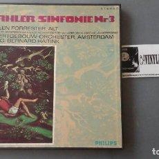 Discos de vinilo: GUSTAV MAHLER ?– SYMPHONY NO.3 CAJA PHILIPS 2LPS. Lote 171187258