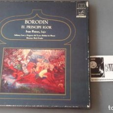 Discos de vinilo: BORODIN - CHOIR AND ORCHESTRA OF THE BOLSHOI THEATRE / MARK ERMLER ?– EL PRINCIPE IGOR CAJA 4 LPS. Lote 171188689