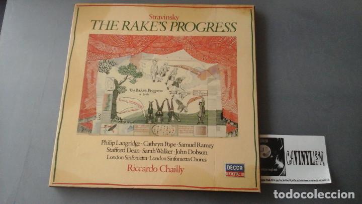 IGOR STRAVINSKY ?– THE RAKE'S PROGRESS CAJA 3 LPS DECCA ?– 411 644-1 (Música - Discos de Vinilo - EPs - Clásica, Ópera, Zarzuela y Marchas)