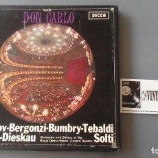 Discos de vinilo: VERDI - SOLTI - DON CARLO - CAJA CON 4 LPS DECCA ?– SET 305/08. Lote 171188950